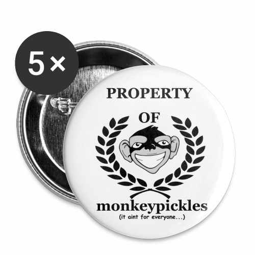 Button Set - Property of Monkey Pickles - Buttons small 1'' (5-pack)