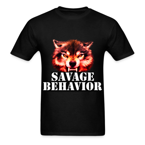 Savage Behavior White Short Sleeve  - Men's T-Shirt