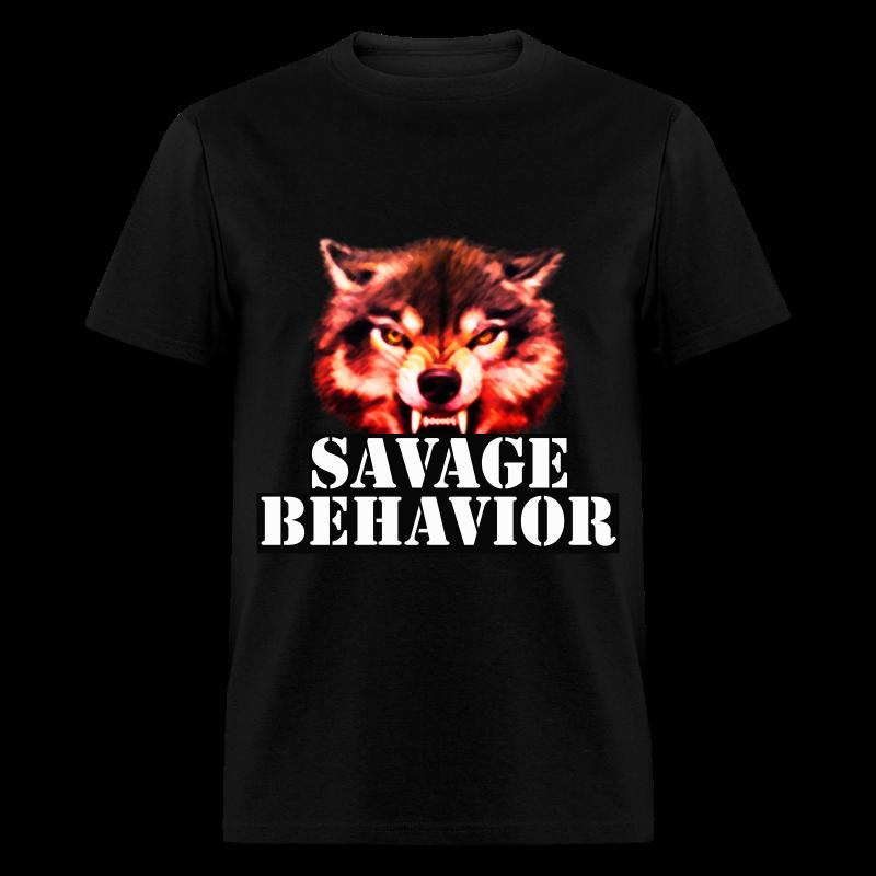 Savage Behavior White Short Sleeve  - Men's T-Shirt