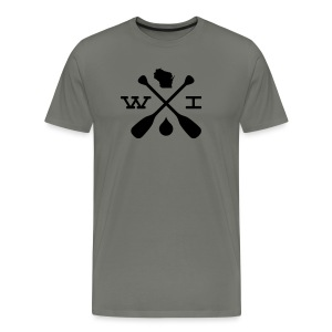 Canoe Wisconsin Compass - Men's - Men's Premium T-Shirt