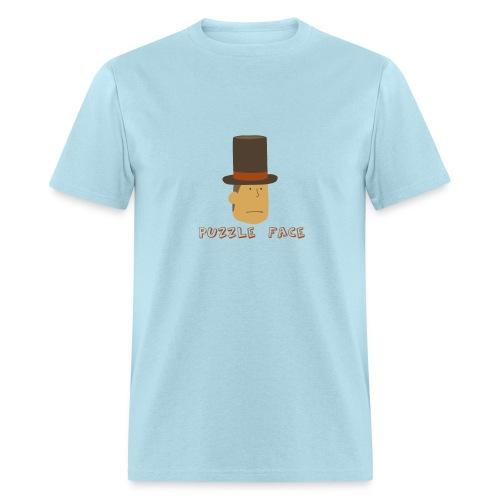 Professor Layton Puzzle Face - Manly Men's - Men's T-Shirt