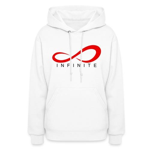 Infinite Logo in Red Women's Hoodie - Women's Hoodie