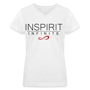 Infinite Inspirit in black on Women's V-Neck - Women's V-Neck T-Shirt