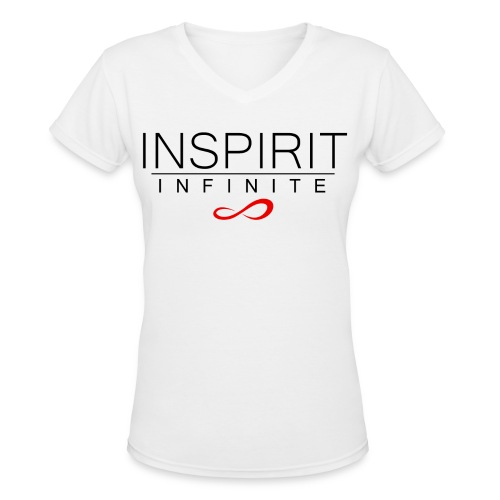 Infinite Inspirit in black on Women's V-Neck - Women's V-Neck T-Shirt
