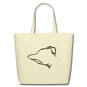 Tuna Profile Tote (cream) - Eco-Friendly Cotton Tote