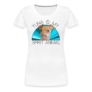 Tuna is my Spirit Animal Women's Premium Tee (blue) - Women's Premium T-Shirt