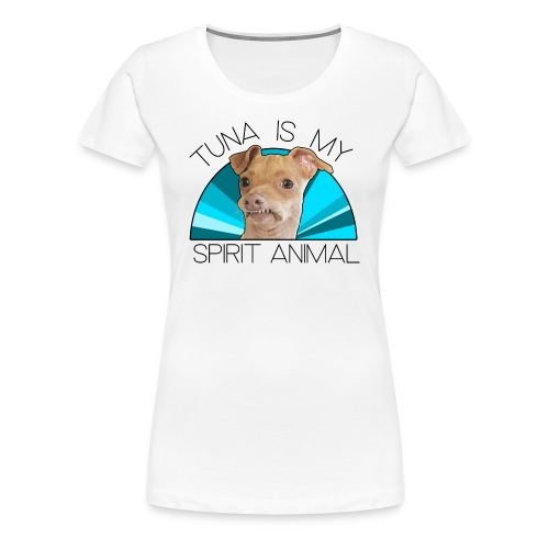 Tuna is my Spirit Animal Women's Premium Tee (blue) - Women's Premium T-Shirt
