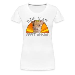Tuna is my Spirit Animal Women's Premium Tee (orange) - Women's Premium T-Shirt