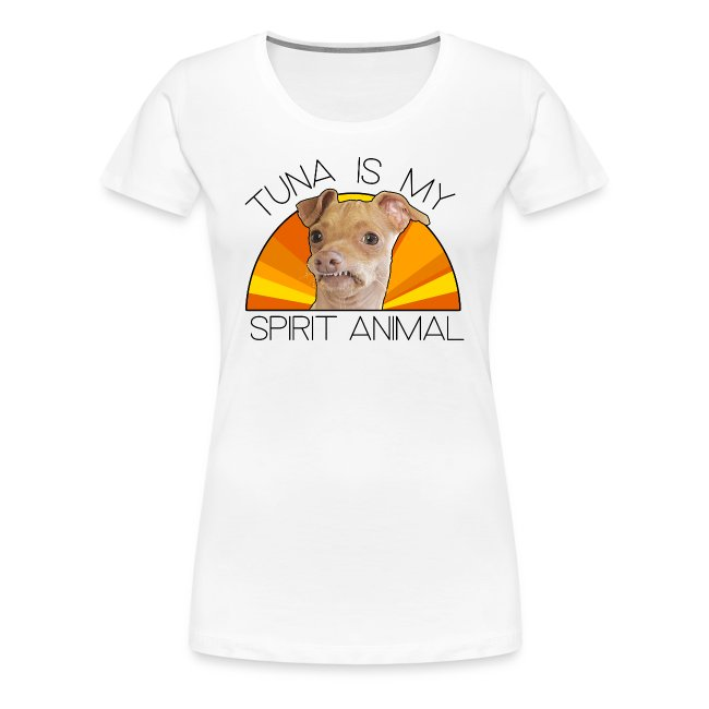 Tuna is my Spirit Animal Women's Premium Tee (orange)