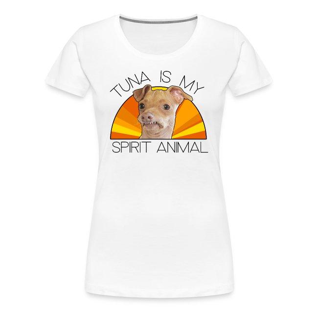 Tuna is my Spirit Animal Women's Premium Tee (orange)