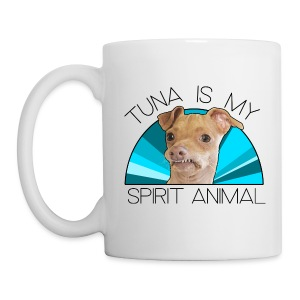 Tuna is my Spirit Animal Ceramic Mug (blue) - Coffee/Tea Mug