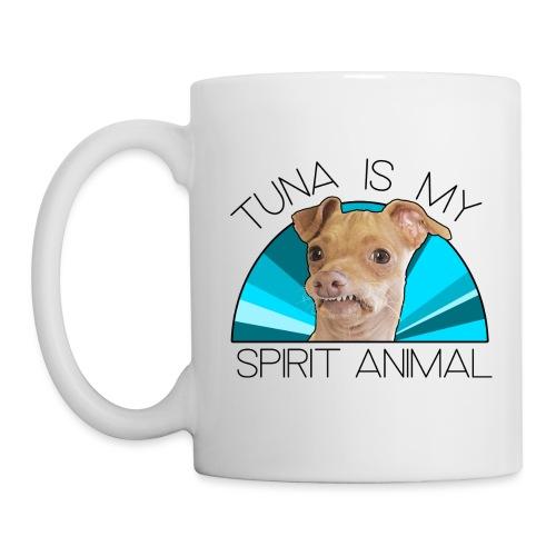 Tuna is my Spirit Animal Ceramic Mug (blue) - Coffee/Tea Mug