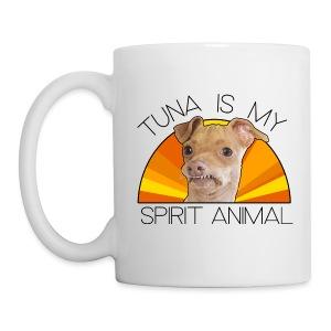 Tuna is my Spirit Animal Ceramic Mug (orange) - Coffee/Tea Mug
