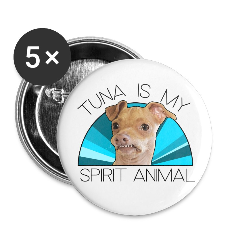 Tuna is my Spirit Animal Coasters (blue) - Large Buttons