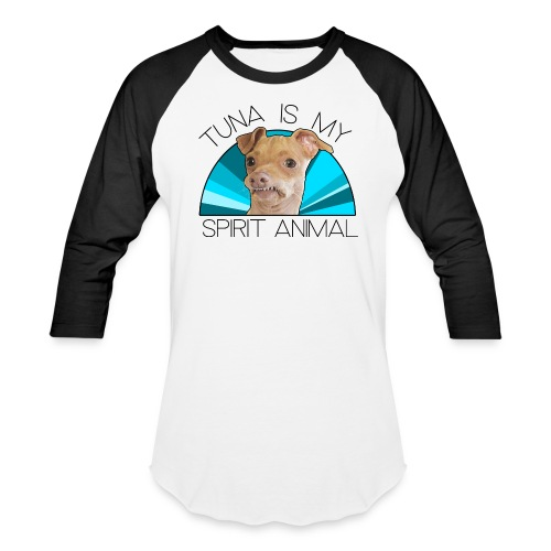 Tuna is my Spirit Animal Men's Baseball Tee (blue) - Baseball T-Shirt