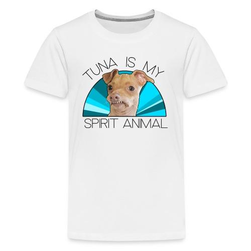 Tuna is my Spirit Animal Kid's Premium Tee (blue) - Kids' Premium T-Shirt
