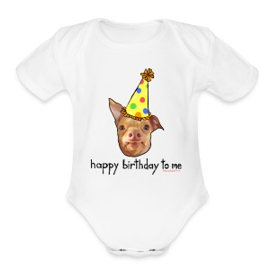 Happy Birthday To Me Baby Short Sleeve - Short Sleeve Baby Bodysuit