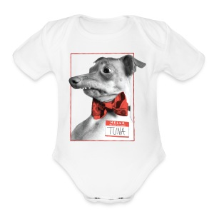 Hello. I will melt your heart. TUNA - Short Sleeve Baby Bodysuit