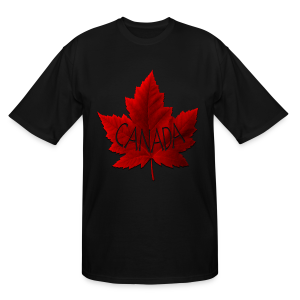 Plus Size Canada Souvenir T-shirts Canada Maple Leaf Shirts - Men's Tall T-Shirt