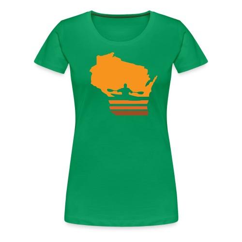 Retro Kayak Wisconsin Sun - Women's - Women's Premium T-Shirt