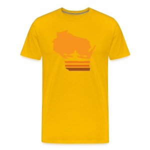 Retro Kayak Wisconsin Sun - Men's - Men's Premium T-Shirt