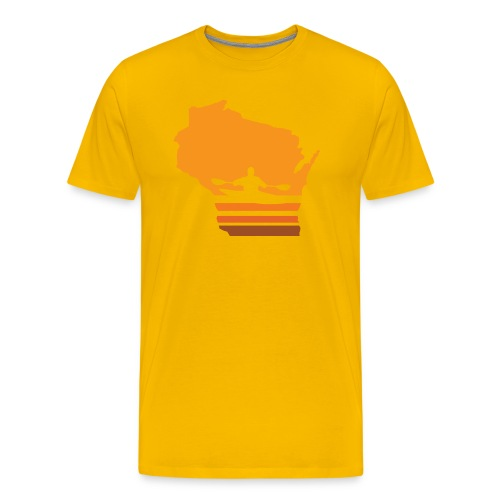 Retro Kayak Wisconsin Sun - Men's - Men's Premium T-Shirt