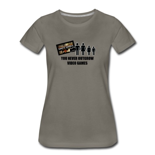 You Never Outgrow Video Games - Dad's Games Logo - Women's Premium T-Shirt