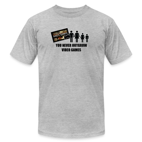 You Never Outgrow Video Games - Dad's Games Logo - Men's Fine Jersey T-Shirt