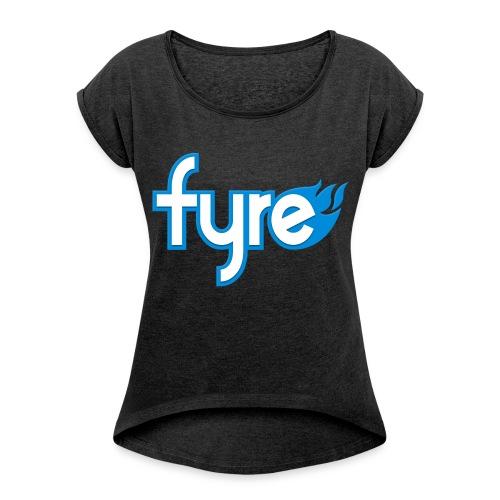 MrHDGamer101 Fyre Women's Roll Cuff Jersey - Women's Roll Cuff T-Shirt