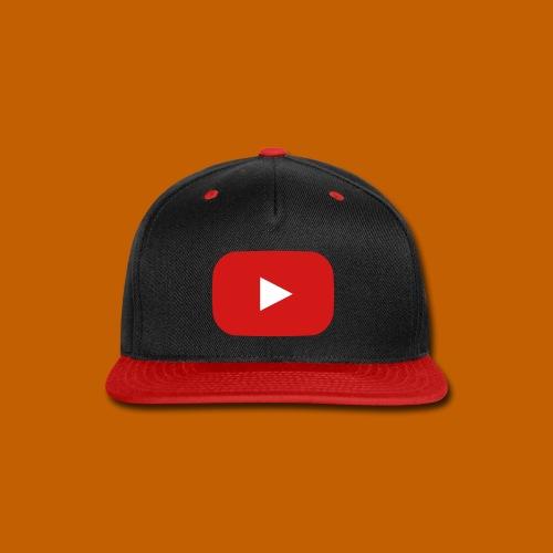 Youtube Cap - Red/Black - Snap-back Baseball Cap