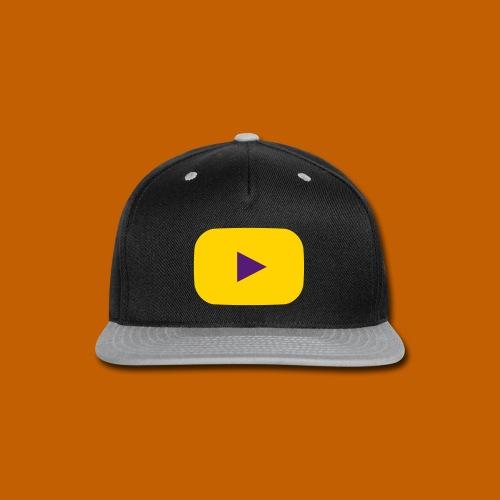 Youtube Cap - Yellow/Purple - Snap-back Baseball Cap