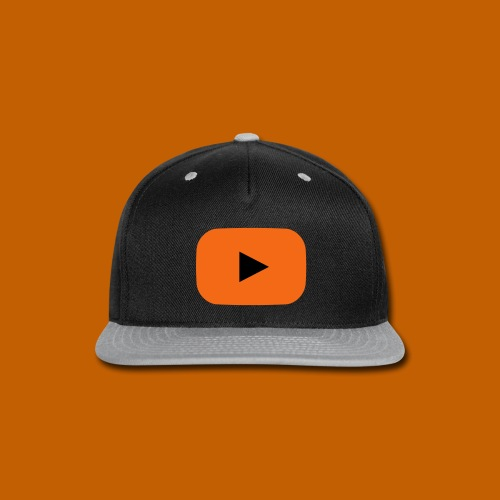 Youtube Cap - Orange/Black - Snap-back Baseball Cap