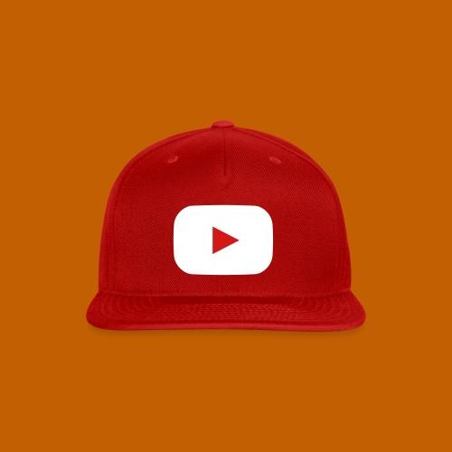 Youtube Cap - Inverted Red - Snap-back Baseball Cap