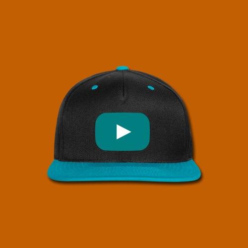 Youtube Cap - Blue/Black - Snap-back Baseball Cap