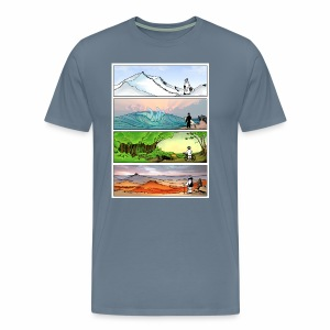 Four Seasons of Outdoors Graphic Tee - Men's Premium T-Shirt