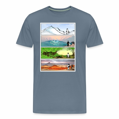 Four Seasons of Outdoors Graphic Tee - Men's Premium T-Shirt