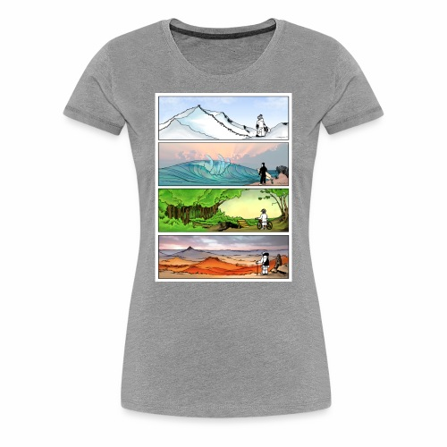Four Seasons of Outdoors Graphic Tee - Women's Premium T-Shirt