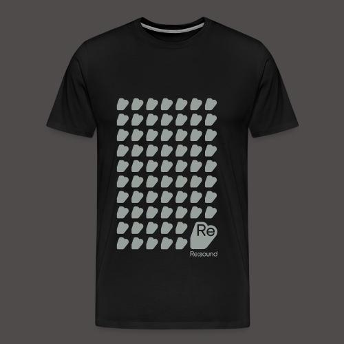Re:Sound Music - Grey on Black (With Logo) - Men's Premium T-Shirt