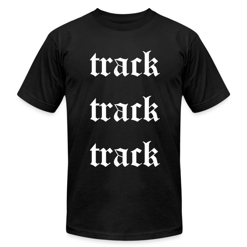 Track Track Track (Black) - Men's Fine Jersey T-Shirt