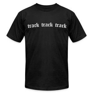Track 3x (Black) - Men's T-Shirt by American Apparel