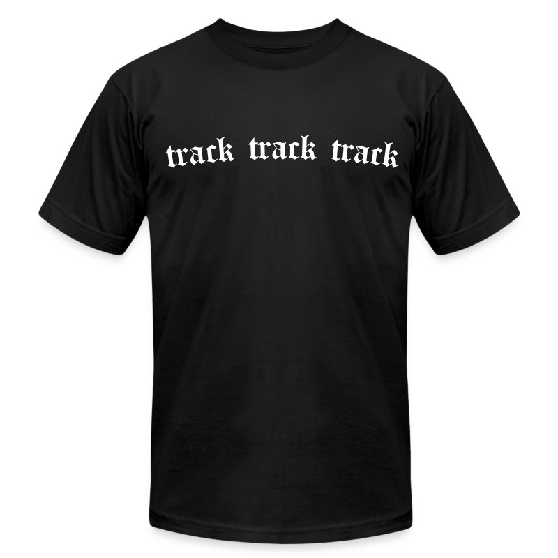 Track 3x (Black) - Men's Fine Jersey T-Shirt