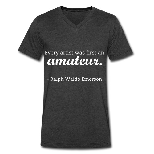 Emerson Quote - Men's V-Neck T-Shirt by Canvas