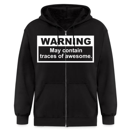 Reeking of awesomeness hoodie - Men's Zip Hoodie
