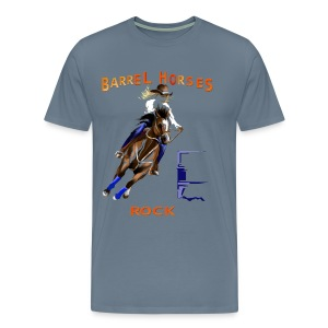 BARREL HORSES ROCK - Men's Premium T-Shirt