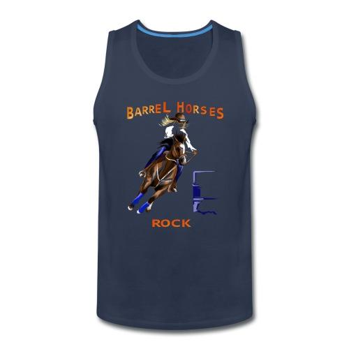 BARREL HORSES ROCK - Men's Premium Tank