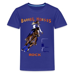 BARREL HORSES ROCK - Kids' Premium T-Shirt