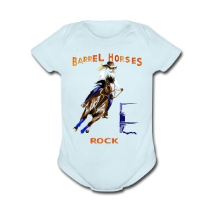 BARREL HORSES ROCK - Short Sleeve Baby Bodysuit