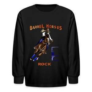 BARREL HORSES ROCK - Kids' Long Sleeve T-Shirt