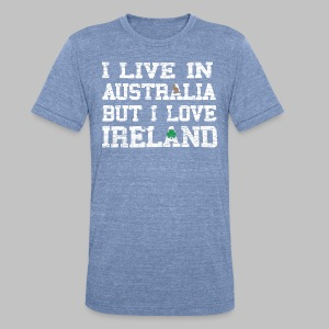 Live Austalia Love Ireland - Unisex Tri-Blend T-Shirt by American Apparel