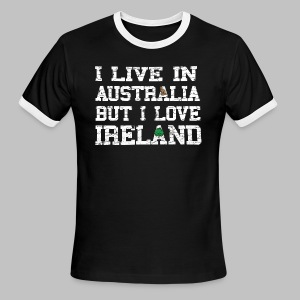 Live Austalia Love Ireland - Men's Ringer T-Shirt